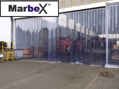 Industrievorhang Streifenvorhang PVC transparent