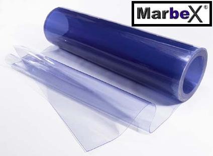 Weich PVC Rollen 25m, 50m, 2mm, 3mm, 4mm Marbex® - Transparent