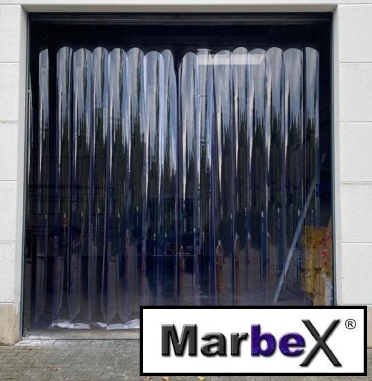 PVC Streifenvorhang transparent