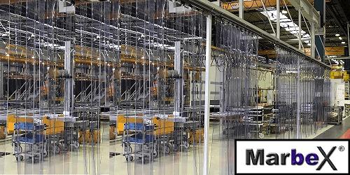 Industrievorhänge für Industrieöffnungen