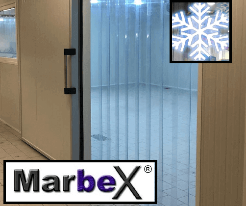 PVC Streifenvorhang Tiefkühlzelle und Tiefkühlhaus<
