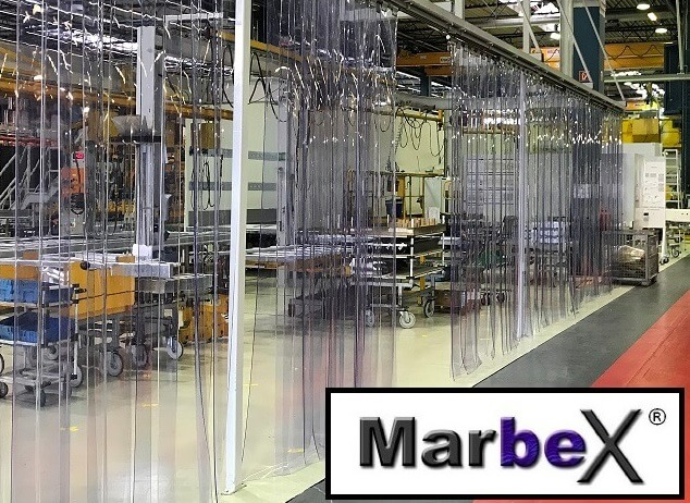PVC Lamellenvorhang Transparent Marbex® aus PVC Lamellen, inkl. Montage