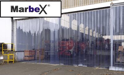 PVC Streifenvorhang Aufhangsystem von Marbex® aus Edelstahl