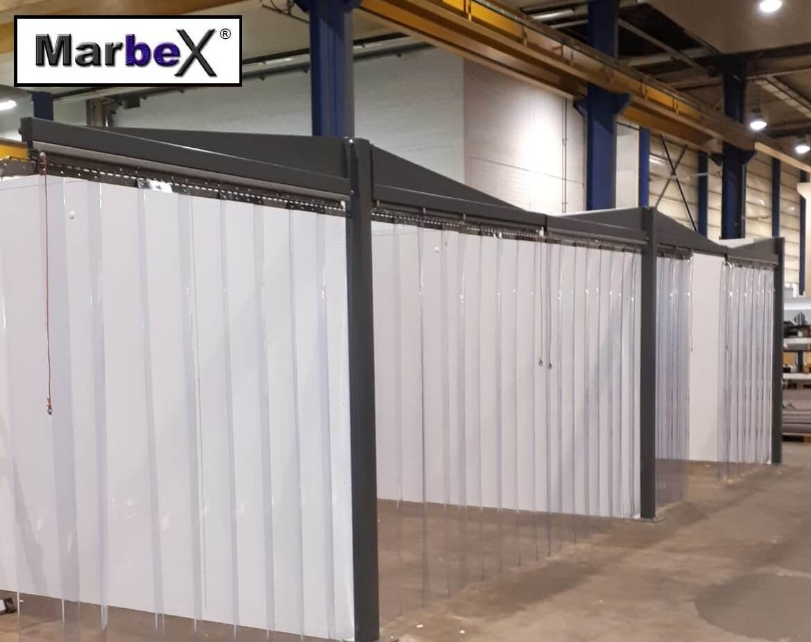 Streifenvorhang Transparent Marbex® aus PVC Lamellen, inkl. Montage