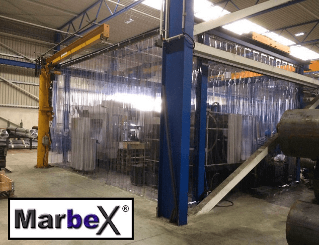 PVC Lamellenvorhang, Streifenvorhang Industrie, Industrievorhang von Marbex®