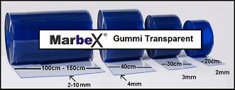 Marbex® PVC Streifenvorhänge verschiedene Streifenstärken